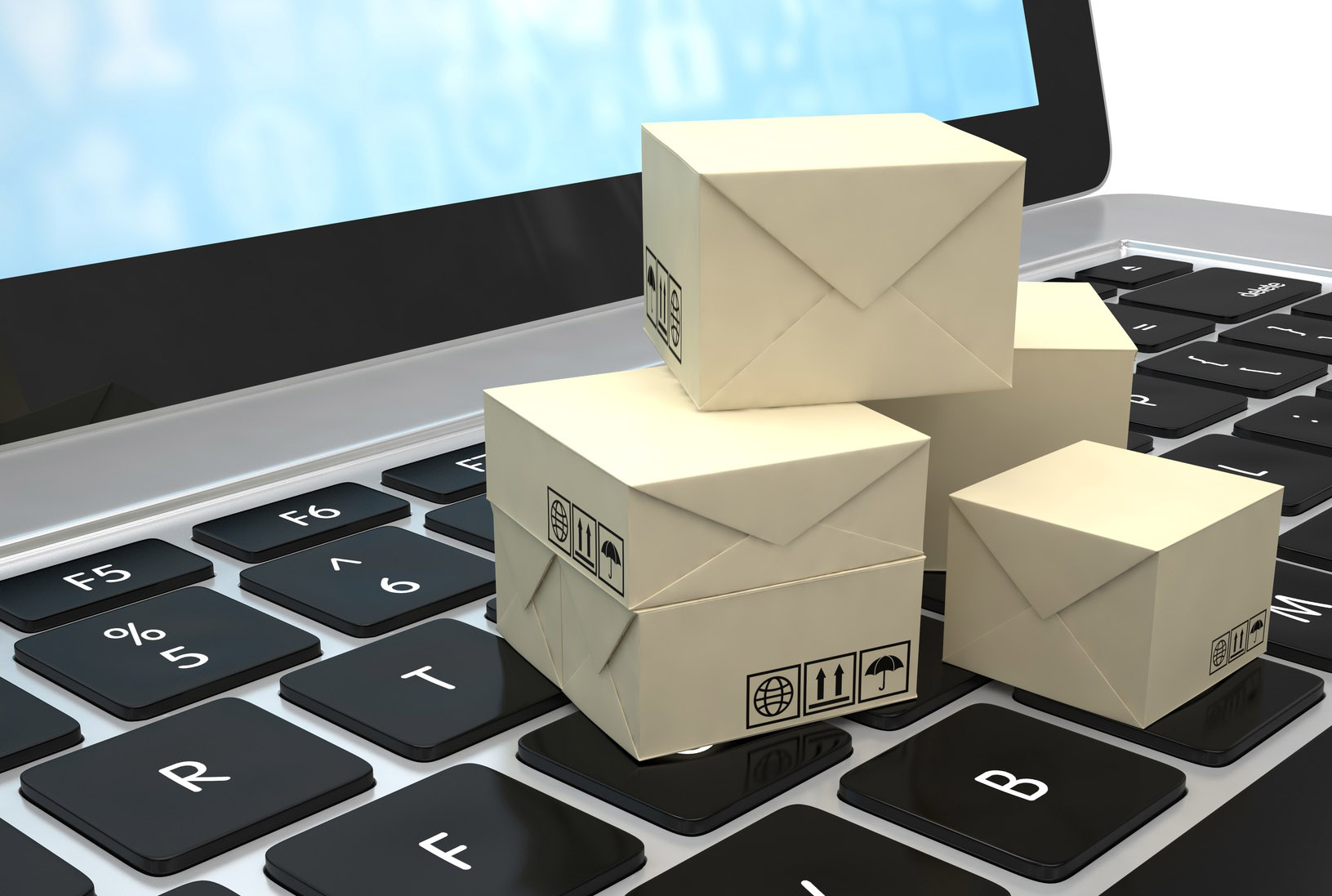 Technology business concept, shipping