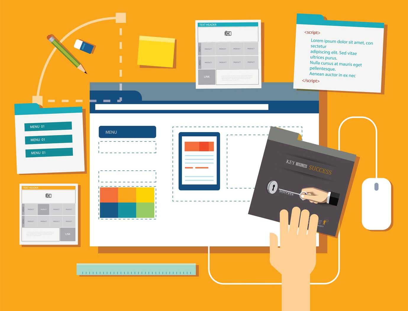 website development project design concept